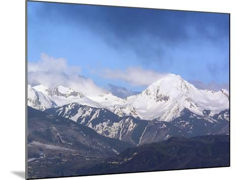 Colorado, Snow Mass Village, Sunrise Light and Cloud Swirl About Mt--Mounted Photographic Print