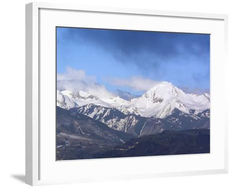 Colorado, Snow Mass Village, Sunrise Light and Cloud Swirl About Mt--Framed Art Print