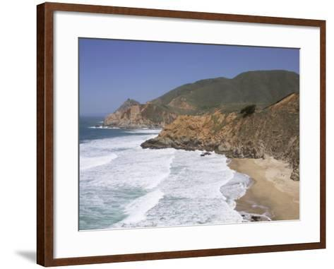 California, Half Moon Bay, Even on a Clear, Sunny Day, Devil's Slide Is a Tough Stretch of Road--Framed Art Print