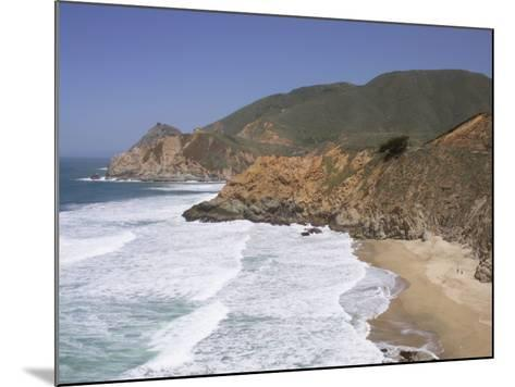 California, Half Moon Bay, Even on a Clear, Sunny Day, Devil's Slide Is a Tough Stretch of Road--Mounted Photographic Print