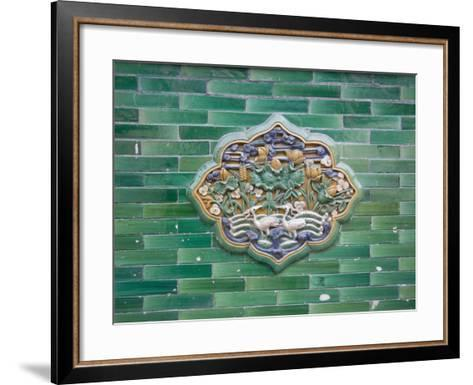 China, Beijing, Forbidden City, Architectural Details on the Wall Made of Glazed Bricks-Keren Su-Framed Art Print