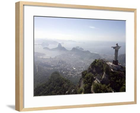 Aerial View of Rio De Janeiro from Sugarloaf Mountain--Framed Art Print