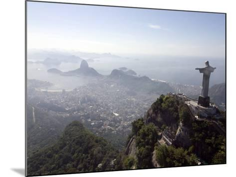 Aerial View of Rio De Janeiro from Sugarloaf Mountain--Mounted Photographic Print