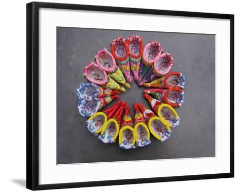 China, Traditional Colorful Embroidered Shoes for Bound Feet-Keren Su-Framed Art Print