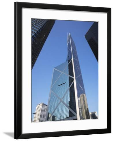 China, Hong Kong, Buildings in Downtown Dominated by Bank of America-Keren Su-Framed Art Print