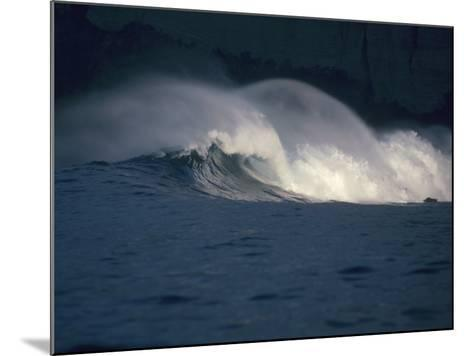 Detailed View of Curling Waves in the Surf under a Black Sky-Jeff Foott-Mounted Photographic Print