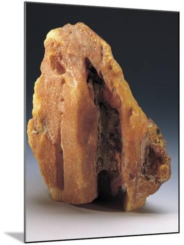 Close-Up of an Amber Rock--Mounted Photographic Print