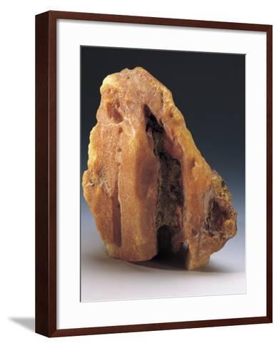 Close-Up of an Amber Rock--Framed Art Print