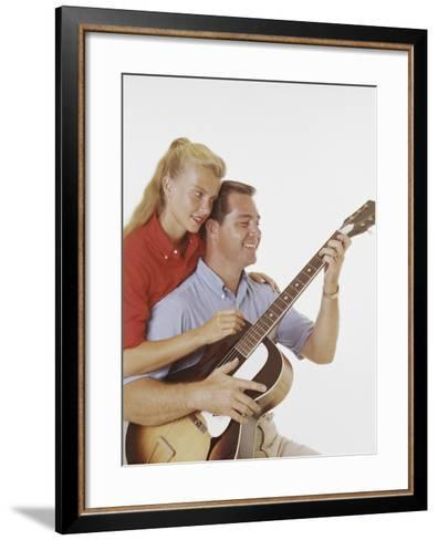 Couple with Guitar-Dennis Hallinan-Framed Art Print