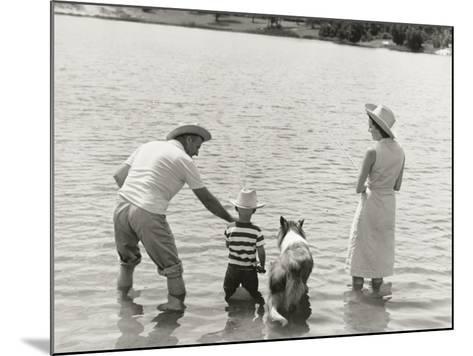 Family Fishing by Lake-Dennis Hallinan-Mounted Photographic Print