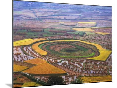 China, Guizhou Province, Round Shaped Rice Paddy after Harvest-Keren Su-Mounted Photographic Print