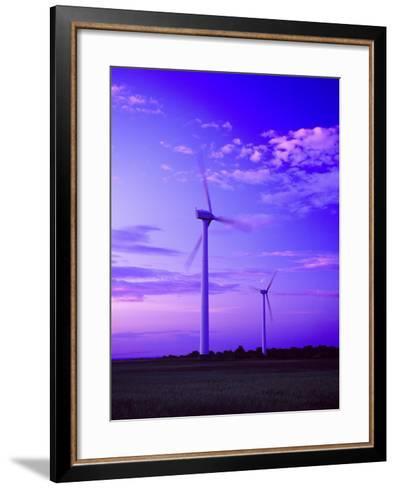 Wind Farm at Dusk, Oland, Sweden--Framed Art Print