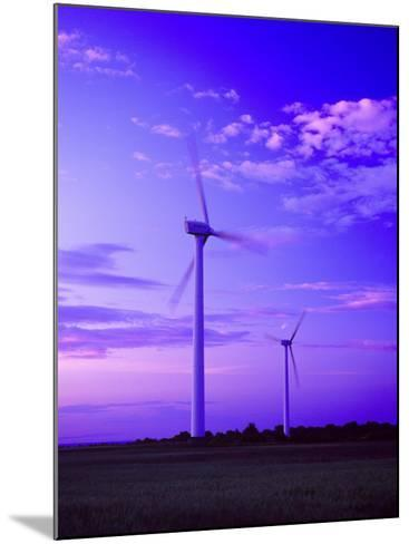 Wind Farm at Dusk, Oland, Sweden--Mounted Photographic Print