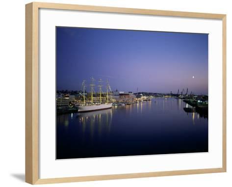 View of Gothenburg Harbour, Sweden--Framed Art Print