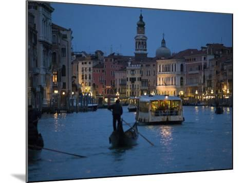 Night-Time on Grand Canal, Venice--Mounted Photographic Print