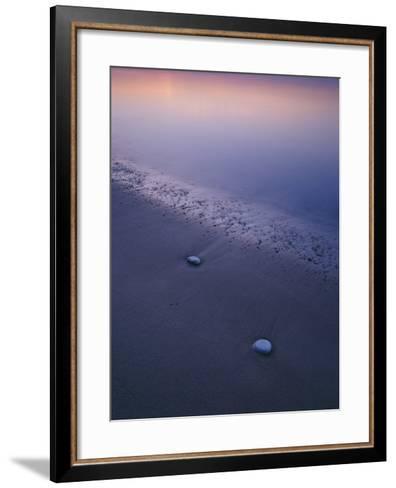 Stones on a Beach--Framed Art Print