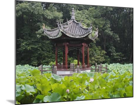 China, Pavilion and Lotus Pond-Keren Su-Mounted Photographic Print