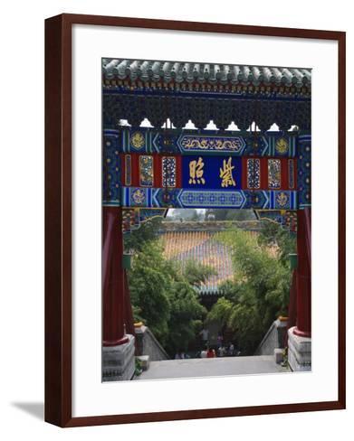 China, Beijing, Traditional Architecture in Beihai Park-Keren Su-Framed Art Print