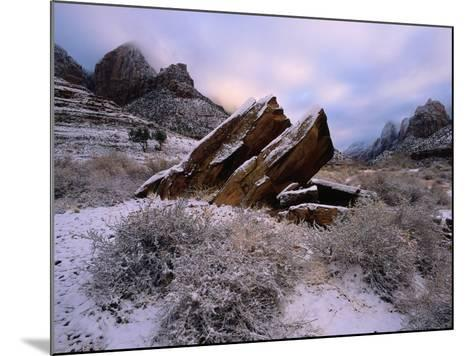 Rocks Rest at Bizarre Angles on the Ground in the Winter-Jeff Foott-Mounted Photographic Print