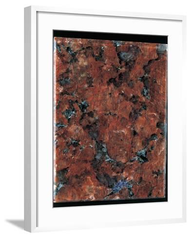 Close-Up of a Red Granite Rock-A^ Rizzi-Framed Art Print