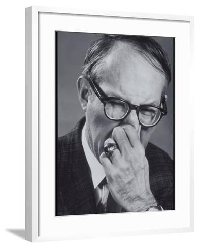 Older Man Pinching His Nose Closed-Lambert-Framed Art Print