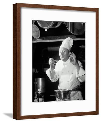 Chef Tasting Food, Ok Sign, 1942-Lambert-Framed Art Print