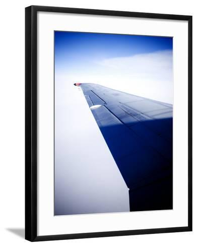 An Airplane Wing--Framed Art Print