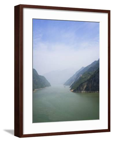 China, Yangtze River, Three Gorges, Landscape of Xiling Gorge-Keren Su-Framed Art Print