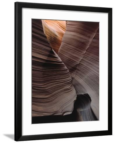 Grooves Decorate Curved Slot Canyon Walls-Jeff Foott-Framed Art Print