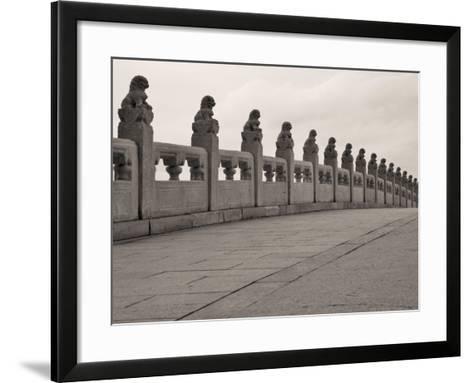 China, Beijing, Stone Bridge on Kunming Lake in the Summer Palace-Keren Su-Framed Art Print