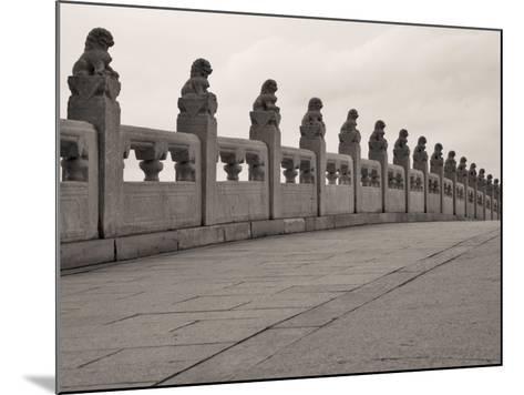 China, Beijing, Stone Bridge on Kunming Lake in the Summer Palace-Keren Su-Mounted Photographic Print