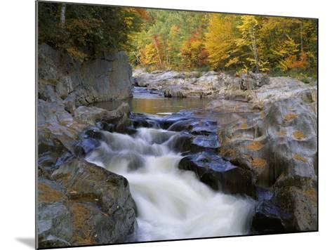 Water Flows over Rocks in the Swift River-Jeff Foott-Mounted Photographic Print