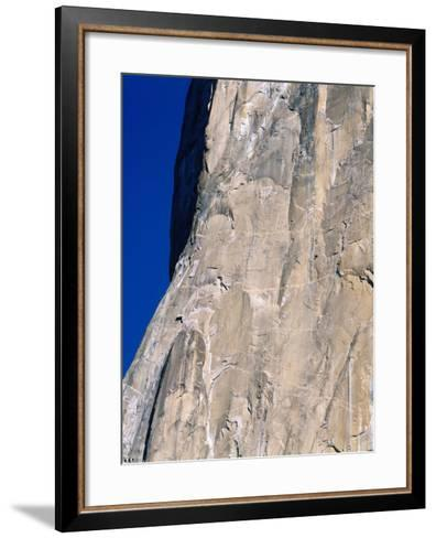 Rock Climbers Scale El Capitan-Jeff Foott-Framed Art Print