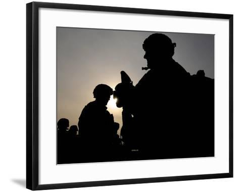 Us Soldiers Belonging to the Nato-Led International Security Assistance Force--Framed Art Print