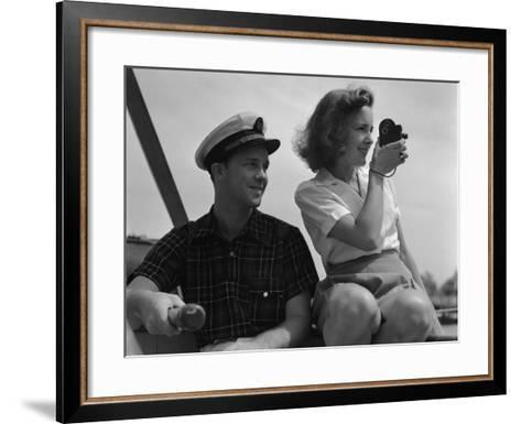 Couple on Sailing Boat-H^ Armstrong Roberts-Framed Art Print