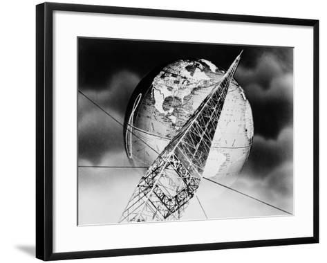 Radio Tower Montage-H^ Armstrong Roberts-Framed Art Print