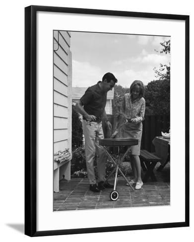 Man Barbecuing Steak-H^ Armstrong Roberts-Framed Art Print