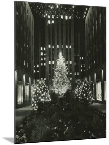 Rockefeller Center Decorated For Christmas, New York City-George Marks-Mounted Photographic Print
