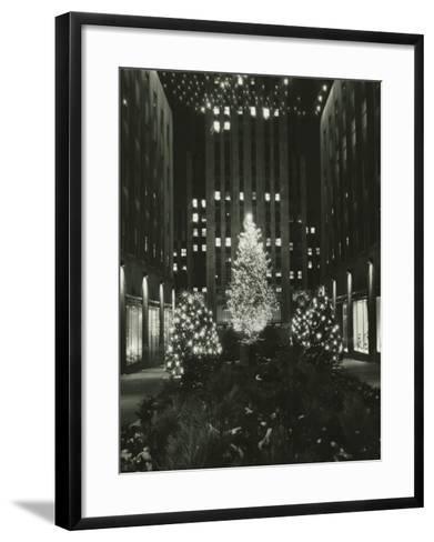 Rockefeller Center Decorated For Christmas, New York City-George Marks-Framed Art Print