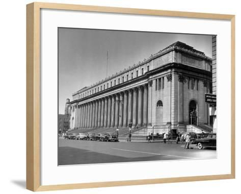 New York City, Farley Post Office Building-George Marks-Framed Art Print