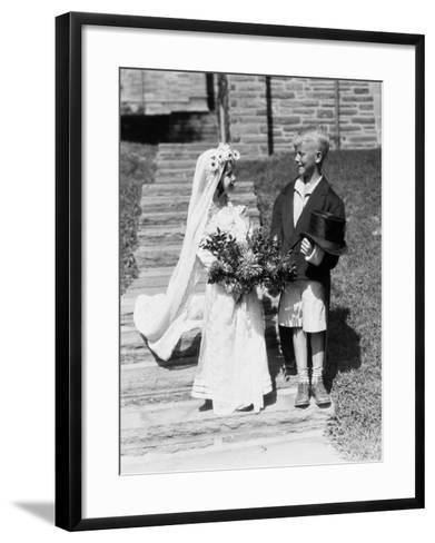 Young Bride and Groom-H^ Armstrong Roberts-Framed Art Print