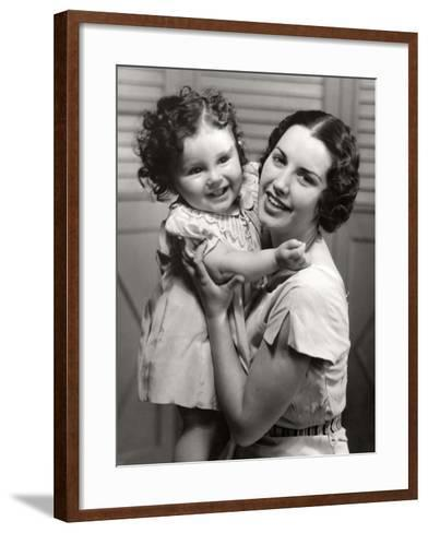 Mother and Young Daughter Hugging-George Marks-Framed Art Print