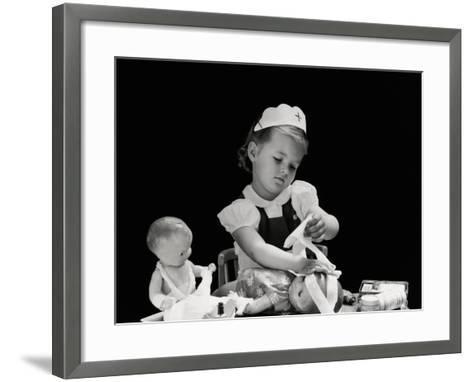 Playing Nurse-H^ Armstrong Roberts-Framed Art Print