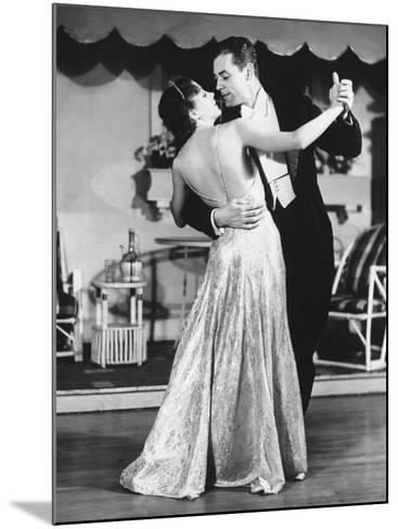 Couple in Evening Wear Dancing (B&W)-George Marks-Mounted Photographic Print
