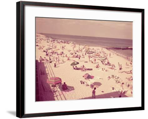 People Relaxing on Beach, New Jersey-H^ Armstrong Roberts-Framed Art Print