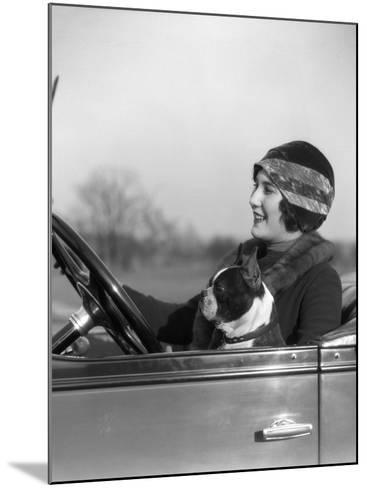 Woman at Steering Wheel Driving Car-H^ Armstrong Roberts-Mounted Photographic Print
