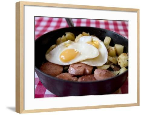 Fried Sausages, Potatoes and Eggs--Framed Art Print
