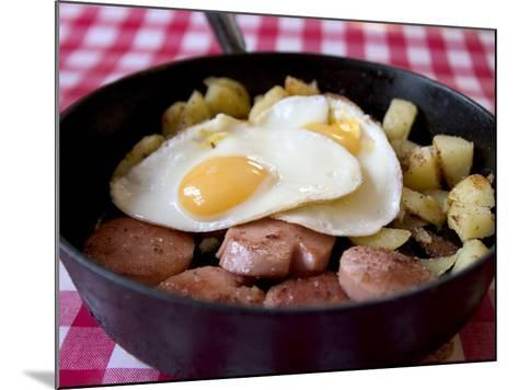 Fried Sausages, Potatoes and Eggs--Mounted Photographic Print