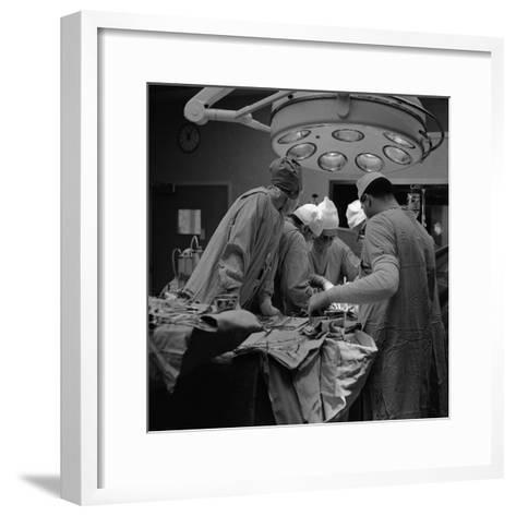 Surgical Operation-H^ Armstrong Roberts-Framed Art Print