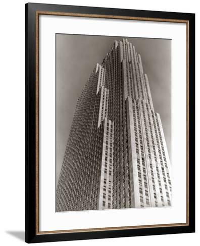 Shot Looking Upward at Rockefeller Center Skyscraper-H^ Armstrong Roberts-Framed Art Print